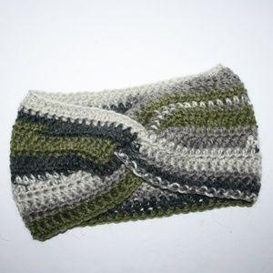 NWOT Winter Crocheted Earwarmer Alpaca Wool